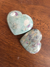 Ruby Fuchsite Pocket Heart