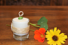 Nautical Sisal & Sand Dollar Design, Coconut Soy Votive Candle