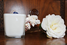 Sold - Natural Coral Design, Coconut Soy Square Candle, Pear Pomegranate Scent