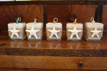Nautical Burlap & White Starfish Design ~ Coconut Soy Wax Square Candle