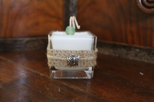 Charmed Fish ~ Coconut Soy Wax Square Votive Candle