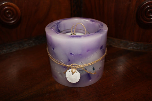 Purple Hurricane Candle + 3 Ounce Votive