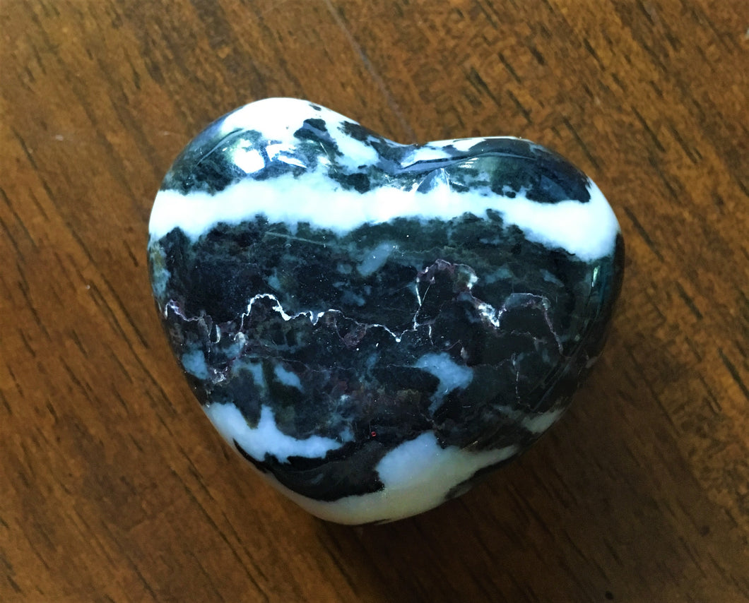 Zebra Jasper Puffy Heart - TEMPORARILY UNAVAILABLE