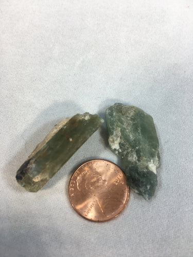 Green Kyanite Raw Healing Stone