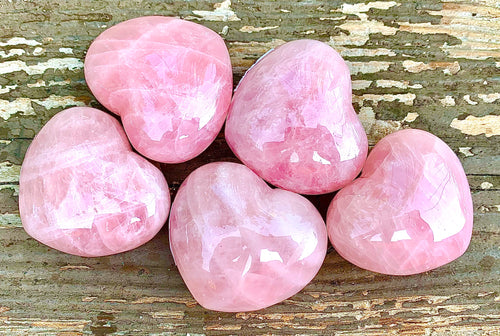 Rose Quartz Puffy Heart
