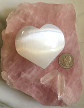 Selenite Palm Stone Heart - Large