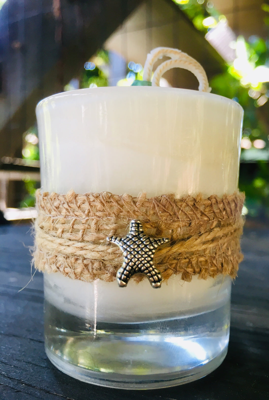 Starfish Charm Design ~ Coconut Soy Wax Round Votive Candle