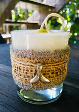 Whale Tail Charm Design ~ Coconut Soy Wax Round Votive Candle
