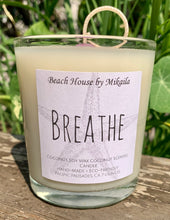 Breathe Label ~ Coconut Soy Wax Label Candle