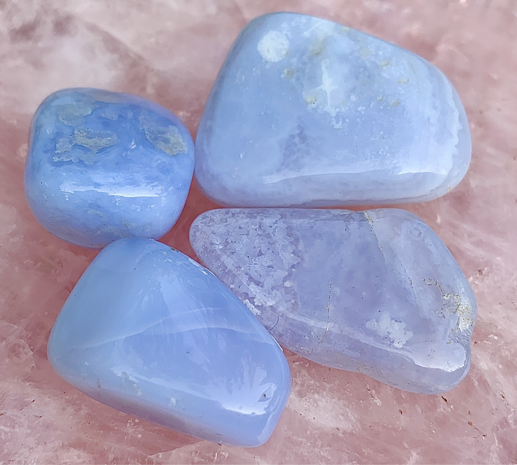 Blue Lace Agate Tumbled Healing Stone
