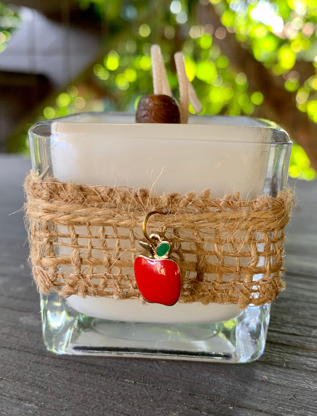Charmed Apple (Red) ~ Coconut Soy Wax Square Votive