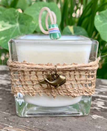 Charmed Whale (Bronze) ~ Coconut Soy Wax Votive Square Candle
