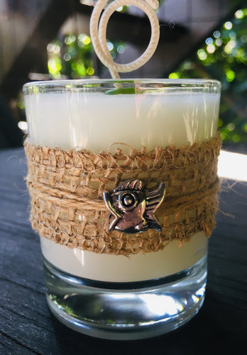 Charmed Fish ~ Coconut Soy Wax Round Votive Candle