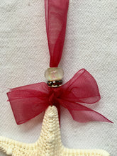 White Knobby Starfish Ornament Hand-Made