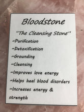Bloodstone Tumbled Healing Stone - TEMPORARILY UNAVAILABLE