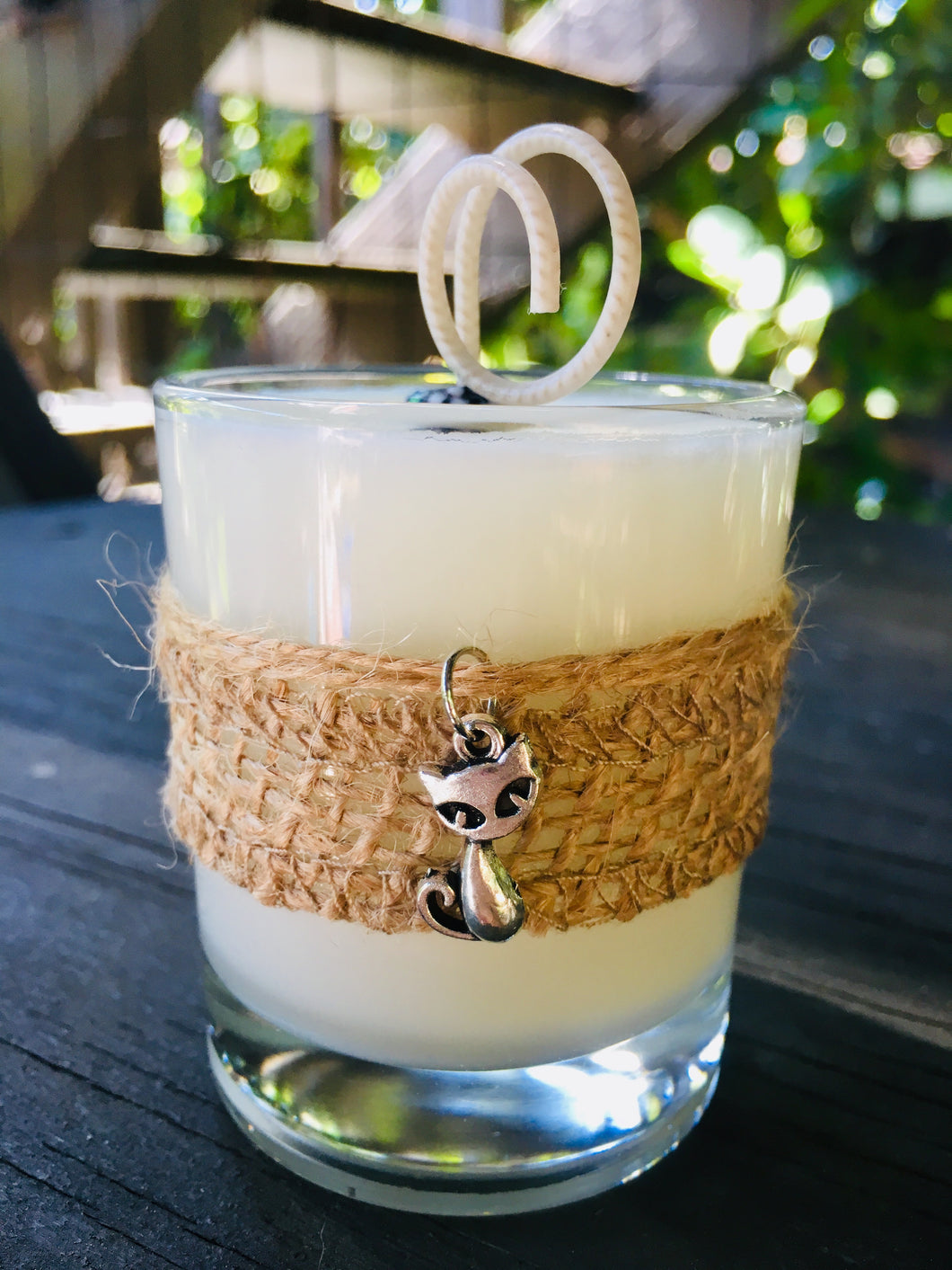 Cat Charm ~ Coconut Soy Wax Round Votive Candle