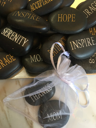 Inspiration & Intention Stones - Engraved River Rock