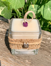Owl Charm ~ Coconut Soy Wax Votive Square Candle