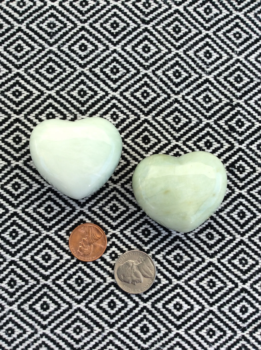 Jadeite Puffy Heart