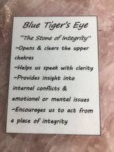 Blue Tiger's Eye Tumbled Healing Stone