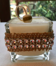 Holiday Hand-Embellished Votive Coconut-Soy Wax Candle