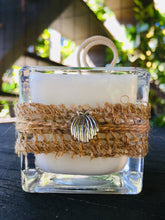 Clam Shell Charm Design ~ Coconut Soy Wax Square Votive Candle