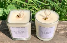 Be Happy Label ~ Lemon Scented Coconut Soy Wax Candle