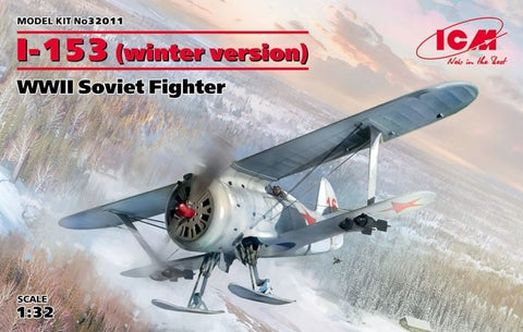1:32 ICM I-153 Chaika (Winter Version) WW2 Soviet FIghter
