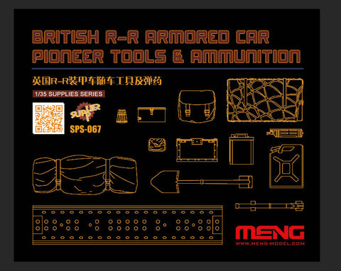 Meng British R-R Armored Car Pioneer Tools & Ammunition