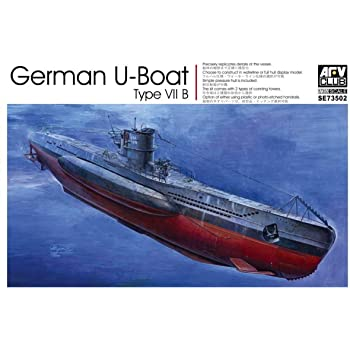 1:350 AFV Club German U-Boat Type VII B