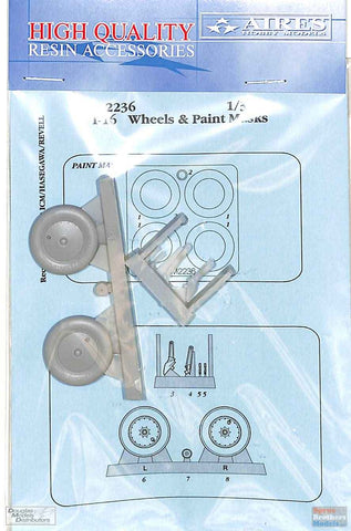 1:32 Aires I-16 Wheels & Paint Mask