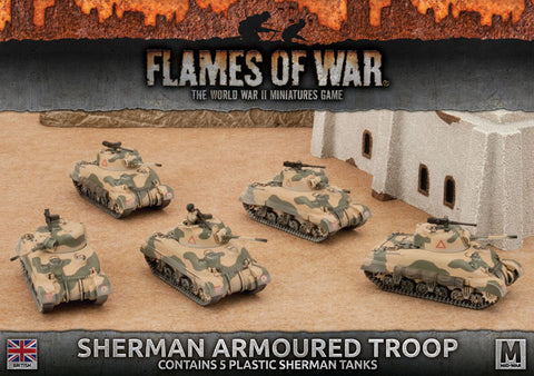 Sherman Armoured Troop (5x plastic)