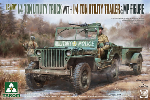 1:35 Tarch Us Army 1/4 Ton Jeep