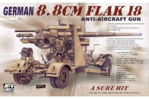 1:35 AFV Club German Pak 88 mm Flak 18 Anti Aircraft Gun