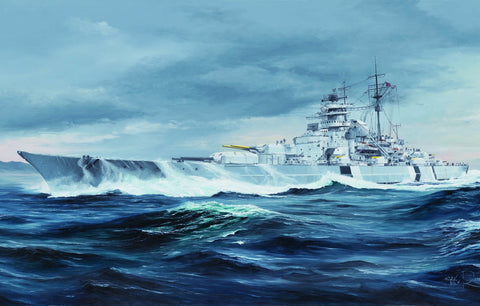 1:350 Trumpeter German Battleship Bismarck [Model Building KIT]