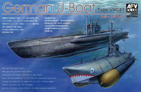 1:350 AFV Club German U-Boat Type VII C/41