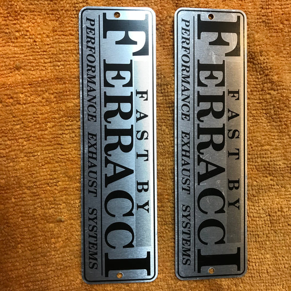 Sticker / Decal -FBF 145 x 40 mm Exhaust Tag set- of 2  code F87016