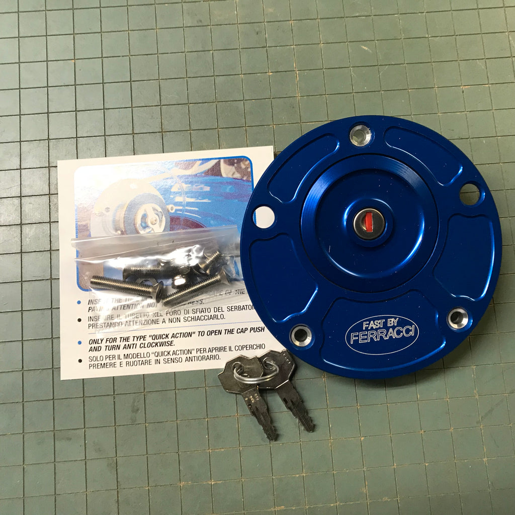 Fuel Tank Cap - Ducati /MV all up to 2010 Lockable Blu code F88532B