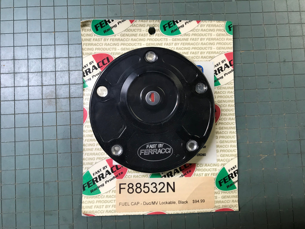 Fuel Cap - Ducati /MV Lockable Black code F88532N