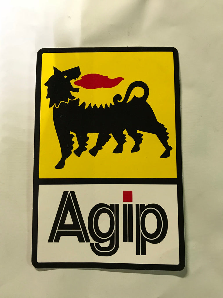 Sticker / Decal- Agip 9 x 5 in  SKU FAGIP