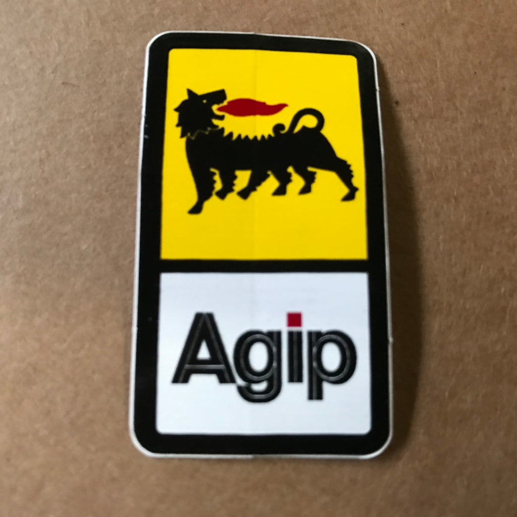 Sticker/Decal -  50 x 30 mm Agip original code F87017