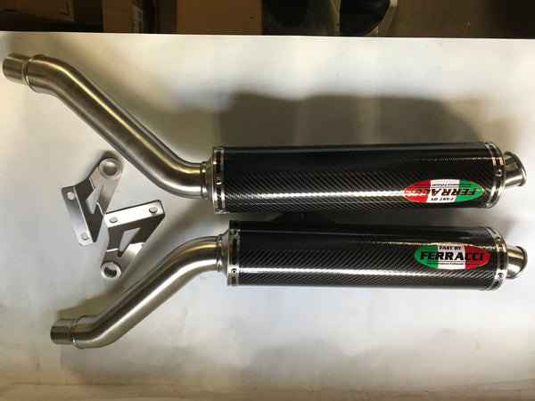 Ducati - Slip ons 750 ss 1998 High Mount Stainless Carbon code  F3352654