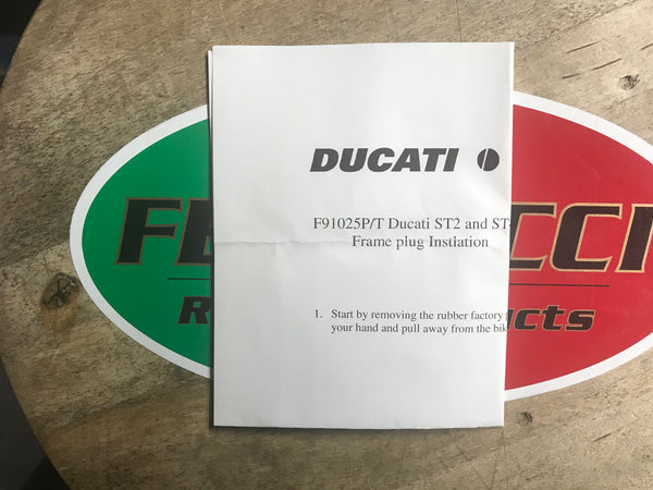 Ducati - Frame Plugs for ST2' ST3' ST4 Tumble Polish code F91025T/P