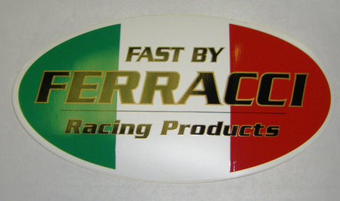 Sticker / Decal -  FBF 3 x 1.3/4 in Racing Products Sm code F87010