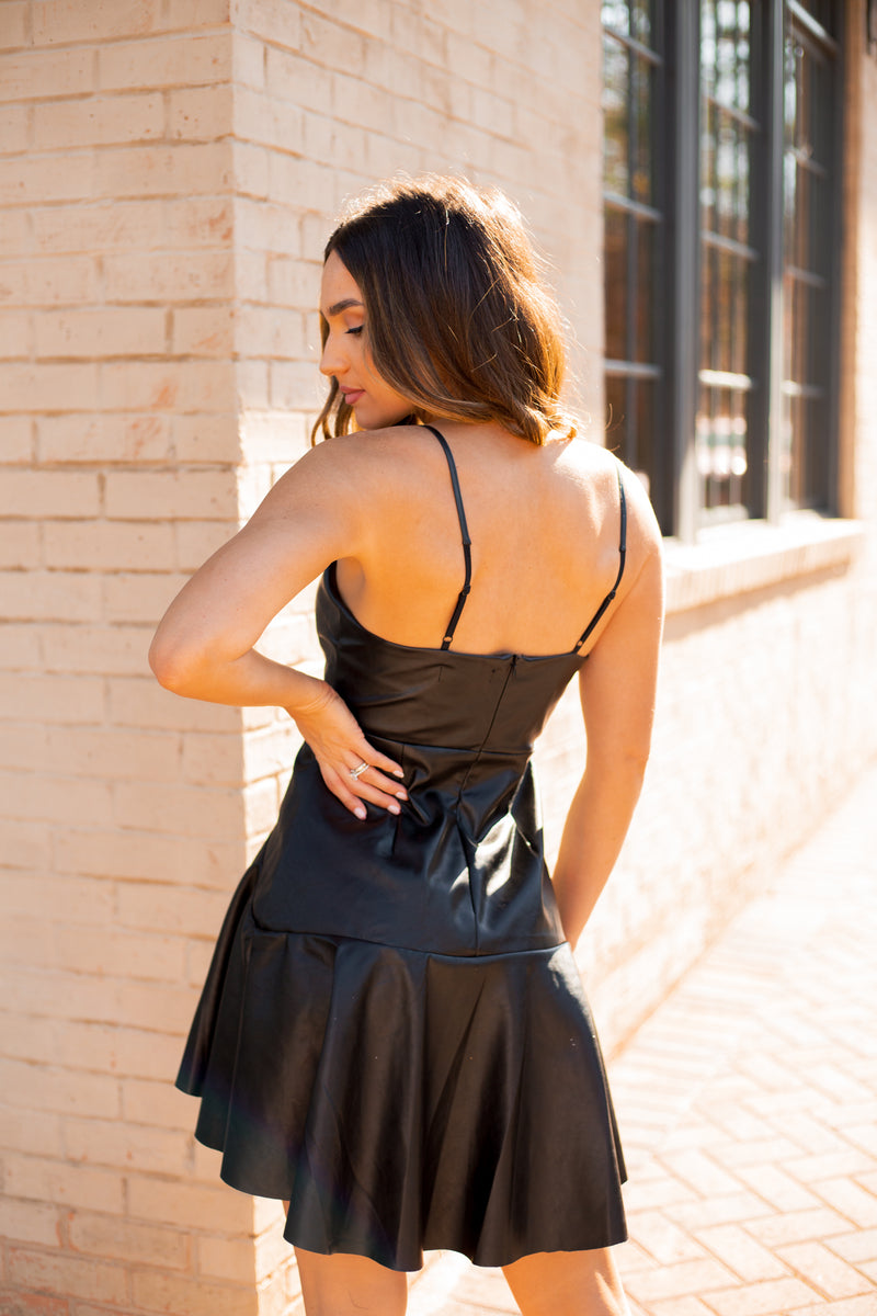 Strappy Leather Dress