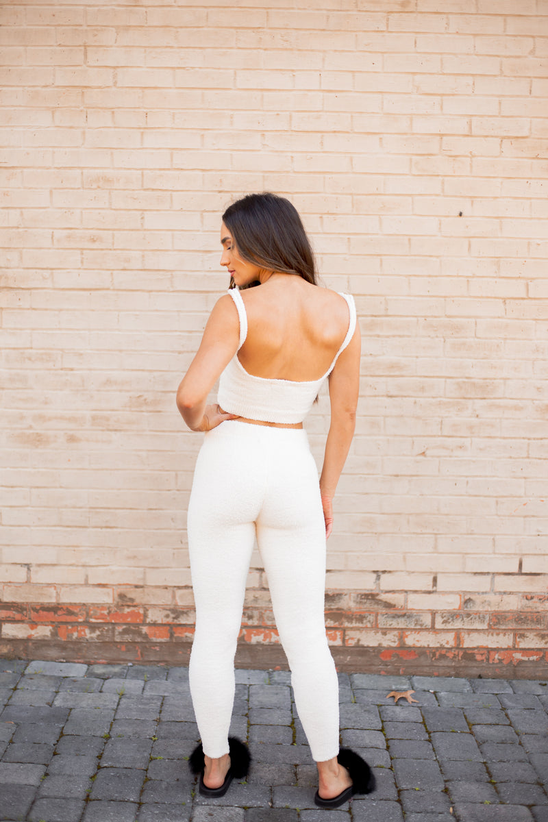 Kourtney Jogger Ivory