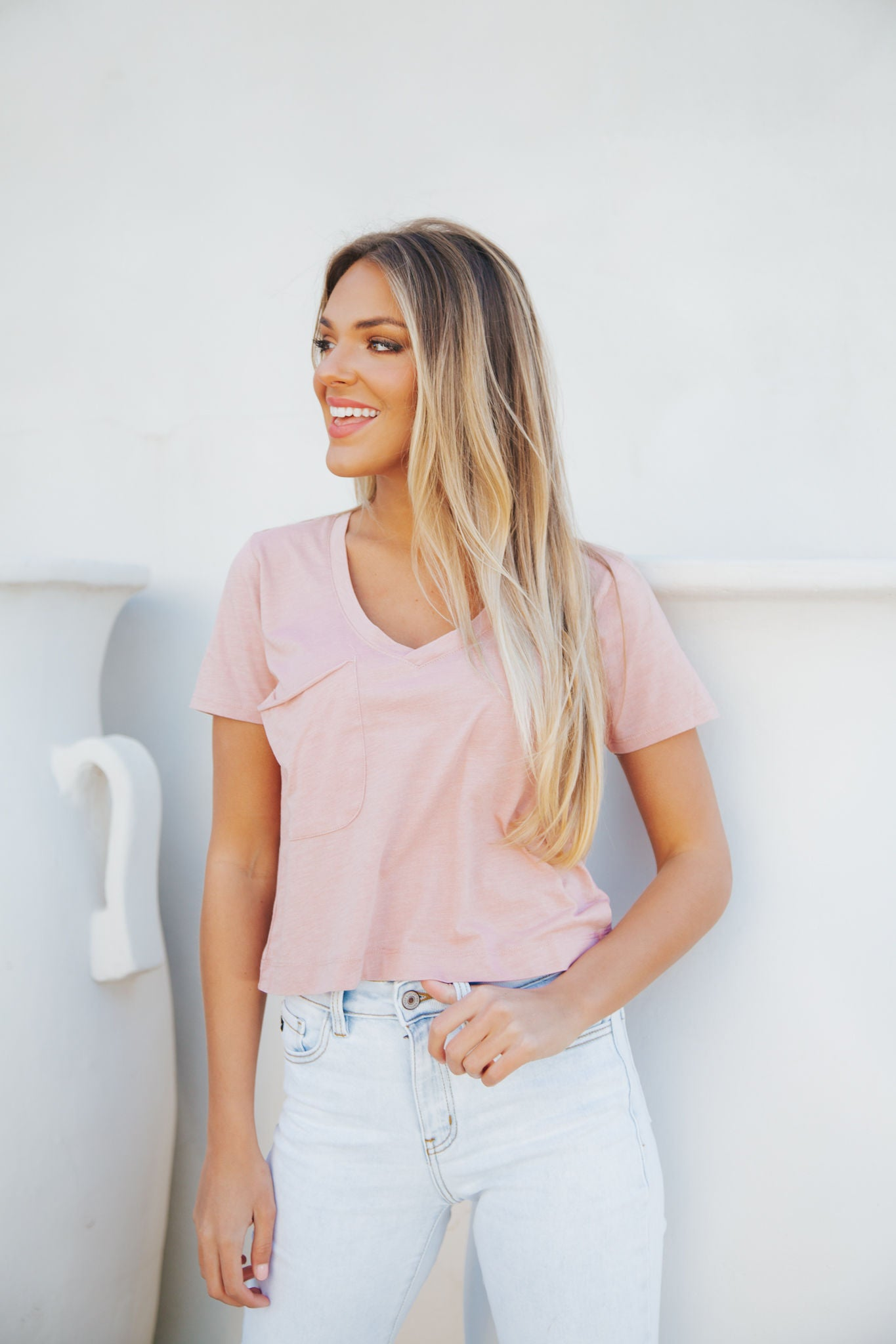 The Classic Skimmer Tee- Wild Rose