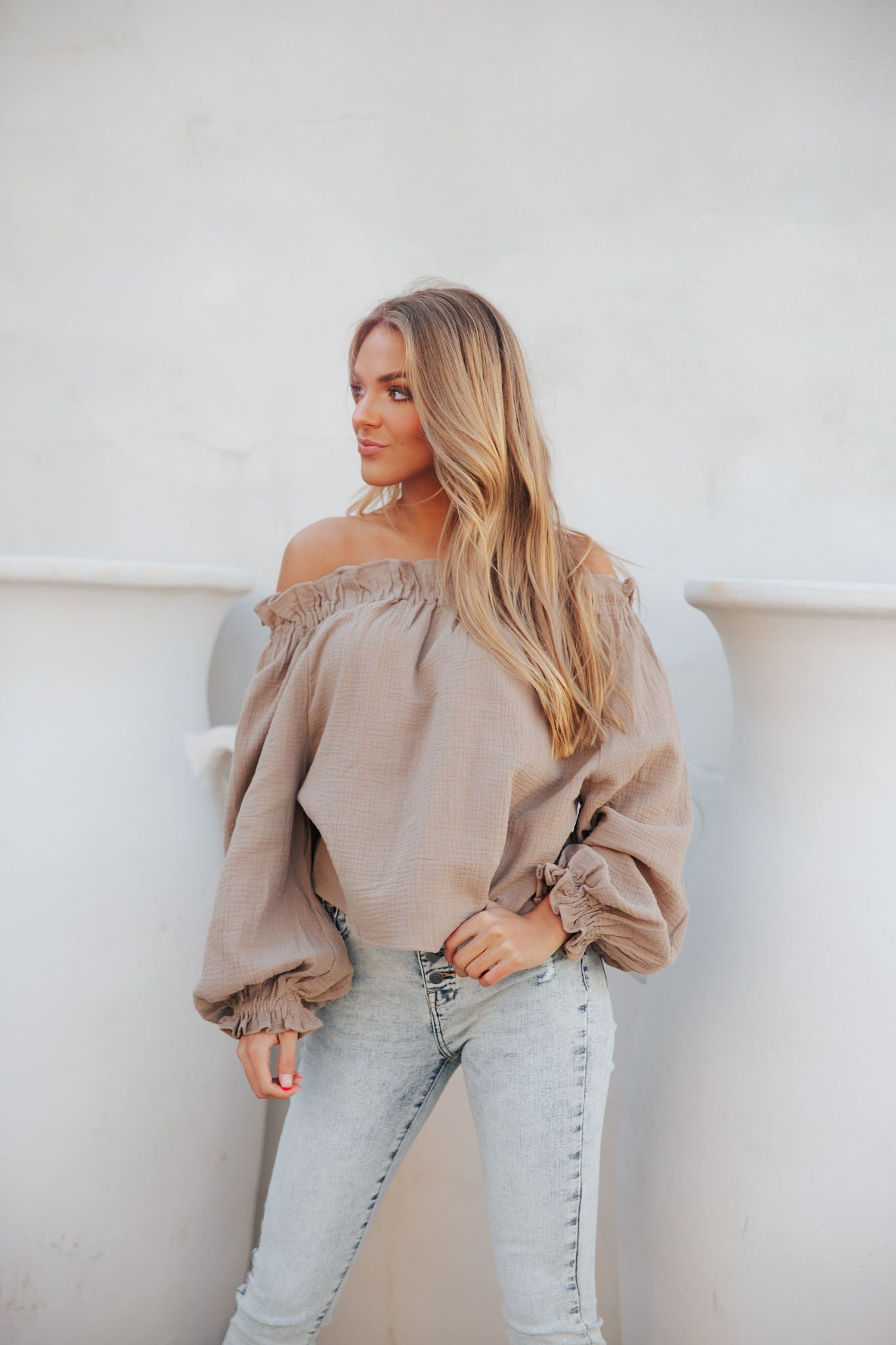 So Plush Top- Taupe
