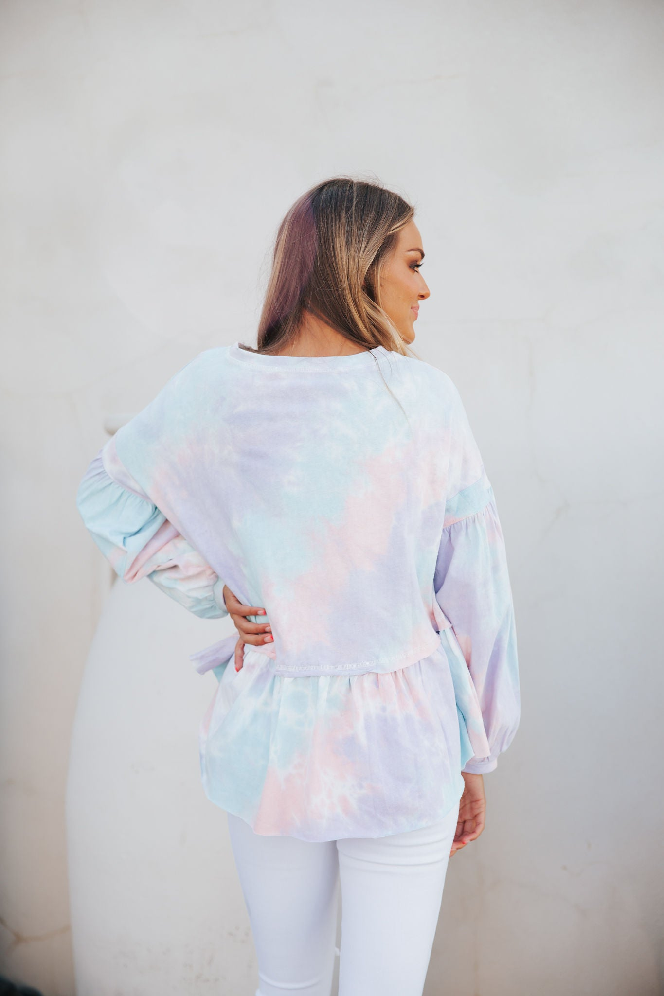 Tie Dye Oversized Top- Pink