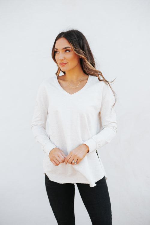 V-Neck Weekender Light Oatmeal